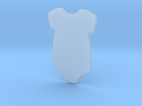 3D Star Onesie in Smooth Fine Detail Plastic