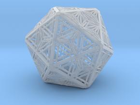 Icosahedron Unique Tessallation in Smooth Fine Detail Plastic