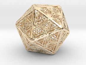 Icosahedron Unique Tessallation in 14K Yellow Gold