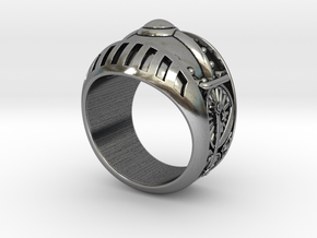 Train Kept A Rollin' Ring- Size 12 (21.49 mm) in Antique Silver