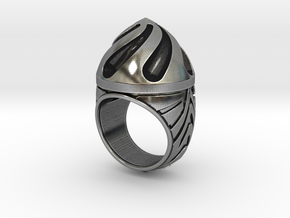 Black Hole - Size 12 (21.49 mm) in Antique Silver