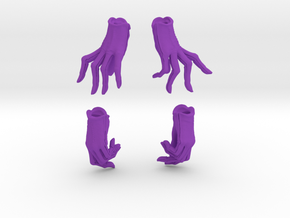 Relaxed and Playful Gloves Set in Purple Processed Versatile Plastic: Small
