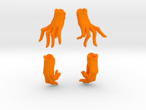Relaxed and Playful Gloves Set in Orange Processed Versatile Plastic: Small