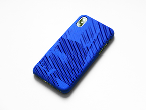 iPhone X case_Darth Vader in Blue Processed Versatile Plastic