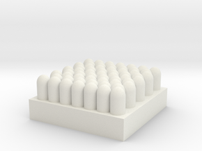 artillery shell`s in crate/box 1/76 in White Natural Versatile Plastic