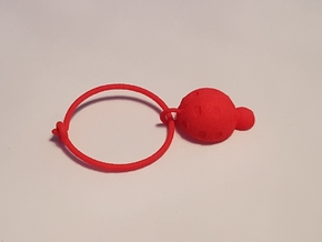 Ladybug Glass Tag in Red Processed Versatile Plastic