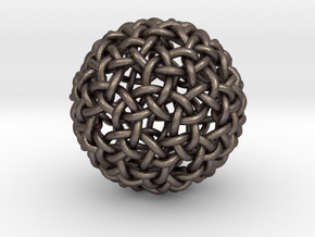 Worm Weave in Polished Bronzed-Silver Steel