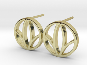 Herbalife Nutrition Earring_V_2.1 in 18k Gold Plated Brass
