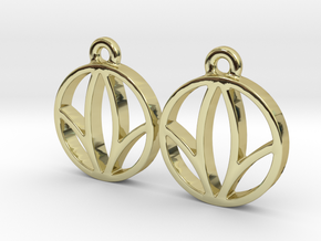 Herbalife Nutrition Earring_V_1.1 in 18k Gold Plated Brass