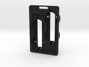 Double RSA and ID card holder in Black Natural Versatile Plastic