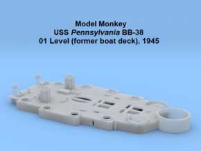 1/200 USS Pennsylvania BB-38 01 Level, 1945 in Smooth Fine Detail Plastic