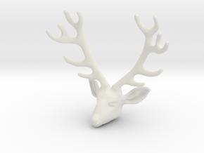 Deer V2-D in White Natural Versatile Plastic
