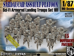 1/87 Sci-Fi Sardaucar Platoon Set 101 in Smooth Fine Detail Plastic