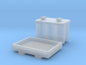 1:25 Optima Style Single Battery and Tray in Smoothest Fine Detail Plastic