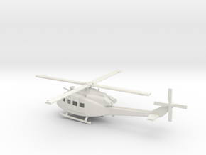 1/72 Scale UH-1Y Model in White Natural Versatile Plastic