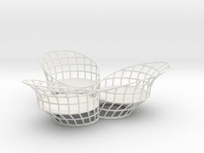 3 Tealights Holder in White Natural Versatile Plastic