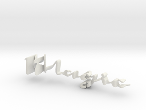 3dWordFlip: Magic/Morgan in White Natural Versatile Plastic