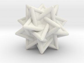 Tetrahedra Compound in White Natural Versatile Plastic