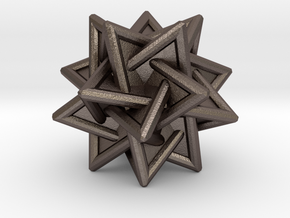 Tetrahedra Compound in Polished Bronzed-Silver Steel