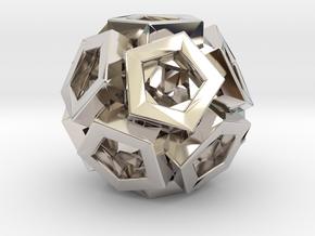 Pentagonal Crystals in Rhodium Plated Brass