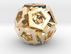 Pentagonal Crystals in 14k Gold Plated Brass