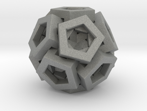 Pentagonal Crystals in Gray Professional Plastic