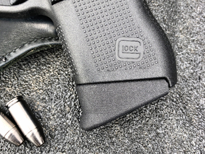 Glock 43 Pinky Extension - Medium  in Black Natural Versatile Plastic