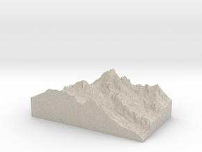 Model of Middle Teton Glacier in Natural Sandstone