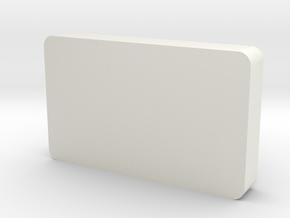 119 Ashpan in White Natural Versatile Plastic