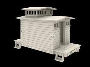 N Scale West Side Caboose #4 in Smooth Fine Detail Plastic