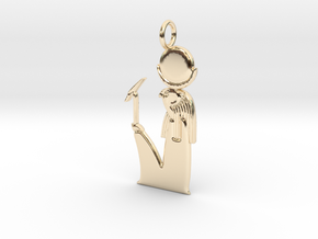 Khonsu amulet in 14k Gold Plated Brass