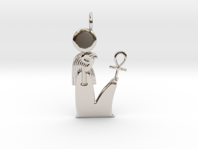 Ra / Re amulet in Rhodium Plated Brass