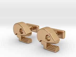 Mictlan cufflinks in Polished Bronze