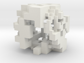 Voxel Pendant V4 Large in White Natural Versatile Plastic