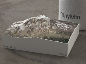 Mt. Adams, Washington, USA, 1:75000 Explorer in Natural Full Color Sandstone