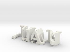 3dWordFlip: juan /laura  in White Natural Versatile Plastic