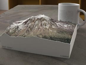 Mt. Adams, Washington, USA, 1:50000 Explorer in Natural Full Color Sandstone