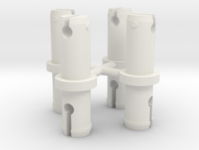 Hydra Wheel Pegs in White Natural Versatile Plastic