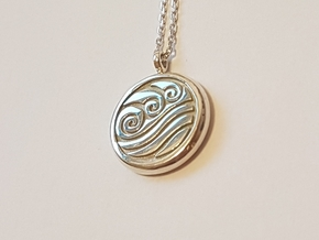 Avatar Water Tribe Necklace in Fine Detail Polished Silver