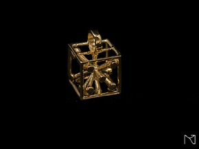 Dice Pendant in 18k Gold Plated Brass