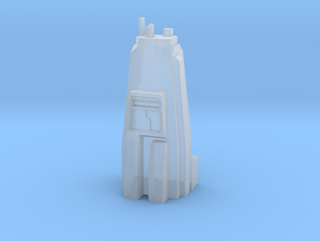 Sci Fi building module - skyscraper /military head in Smooth Fine Detail Plastic