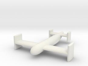 (1:144) Blohm & Voss BV 143B in White Natural Versatile Plastic