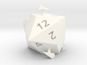 d12 sphericon (alternate) in White Processed Versatile Plastic