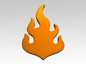 Flame Shoulder Icons x50 in Smooth Fine Detail Plastic