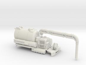 Vacuum Truck Detached Positional Hose 1-64 Scale in White Natural Versatile Plastic