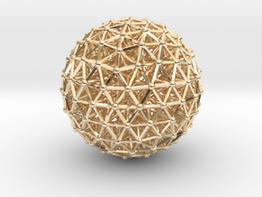 Geodesic • Two-layer Sphere in 14k Gold Plated Brass