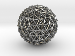 Geodesic • Two-layer Sphere in Natural Silver