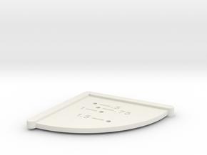 Corner Hole Measuring Jig - Imperial in White Natural Versatile Plastic