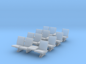 HO Scale Waiting Room Seats 4x3 in Smooth Fine Detail Plastic