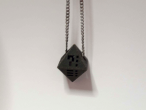 Octahedron - Pendant in Matte Black Steel